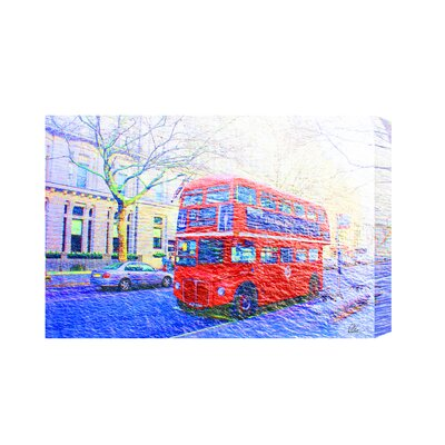 Andrew Lee London Bus Red Front by Andrew Lee Graphic Art on Canvas