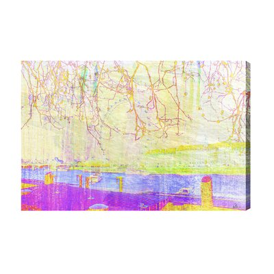 Andrew Lee London Eye View Tree Tops Graphic Art Wrapped on Canvas