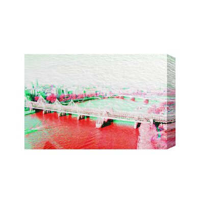 Andrew Lee London Eye View Red by Andrew Lee Graphic Art on Canvas