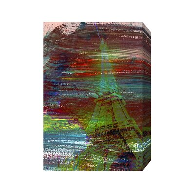 Andrew Lee French Eiffel Tower by Andrew Lee Graphic Art Wrapped on Canvas