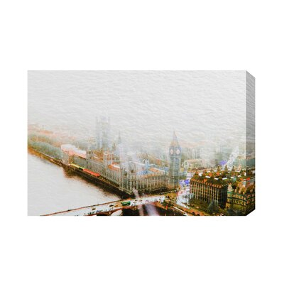 Andrew Lee London Big Ben in the Mist by Andrew Lee Graphic Art Wrapped on Canvas