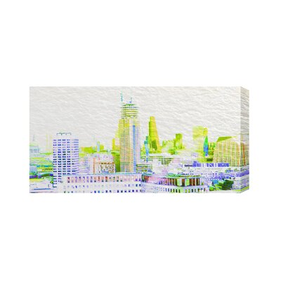 Andrew Lee London Shard View with a Difference by Andrew Lee Graphic Art Wrapped on Canvas