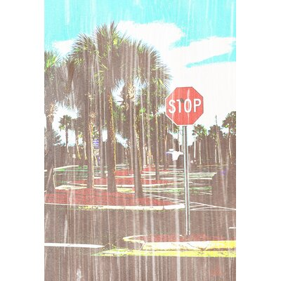 Andrew Lee 'Gold Stop' by Andrew Lee Graphic Art Wrapped on Canvas
