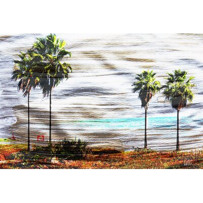 Andrew Lee 'Gold S and G Palm' Graphic Art Wrapped on Canvas