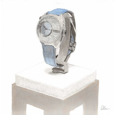 """Andrew Lee Fashion """"Crystal Watch"""" by Andrew Lee Art Print Wrapped on Canvas"""