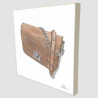 """Andrew Lee """"Fashion Bag"""" Art Print Wrapped on Canvas"""