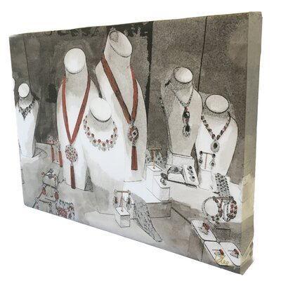 """Andrew Lee Fashion """"Field Day Jewelry"""" by Andrew Lee Art Print Wrapped on Canvas"""