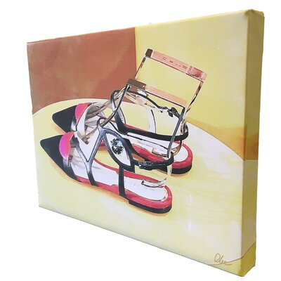 """Andrew Lee Fashion """"Pointy Shoes"""" Art Print Wrapped on Canvas"""