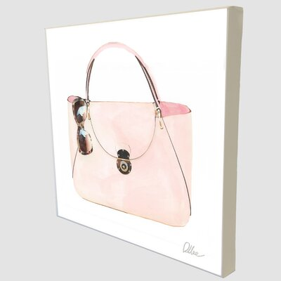 """Andrew Lee Fashion """"Sunny Bag"""" by Andrew Lee Art Print Wrapped on Canvas"""