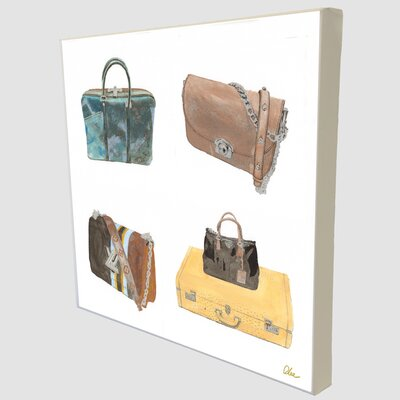"""Andrew Lee Fashion """"Handbag Collage"""" Art Print Wrapped on Canvas"""