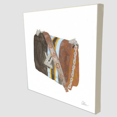 """Andrew Lee Fashion """"Stylish Bag"""" Art Print Wrapped on Canvas"""