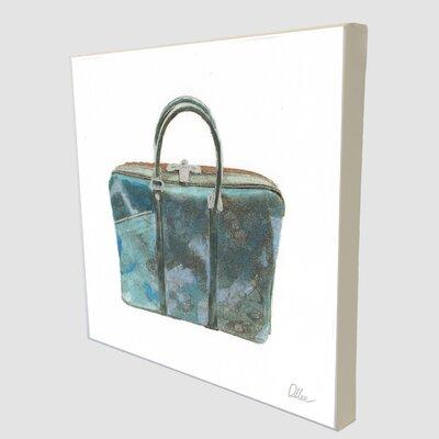 "Andrew Lee Fashion ""Green Handbag"" Art Print Wrapped on Canvas"