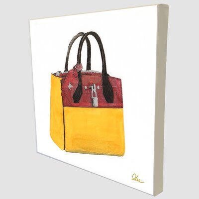 "Andrew Lee Fashion ""Cool Bag"" Art Print Wrapped on Canvas"