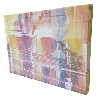 """Andrew Lee Fashion """"Shades of Glam"""" Graphic Art Wrapped on Canvas"""