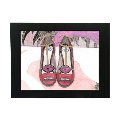 Andrew Lee Lips Shoes Framed Art Print