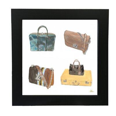 Andrew Lee Handbag Collage Framed Art Print