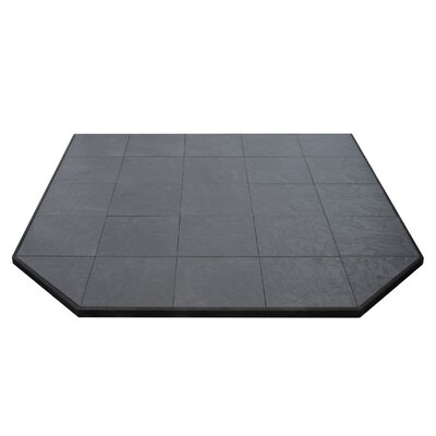 """Boxed Hearth Pad Size: 1.5"""" H x 60"""" W x 60"""" D, Finish: Volcanic Sand"""