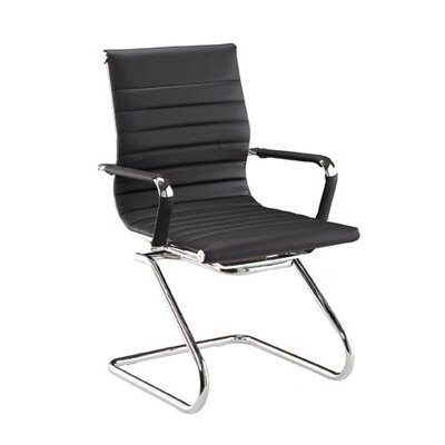 Pantera Guest Chair Finish: White, Seat Material: Synthetic Leather