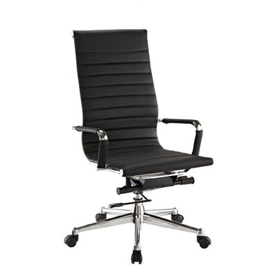 Pantera Leather Desk Chair Upholstery: Black