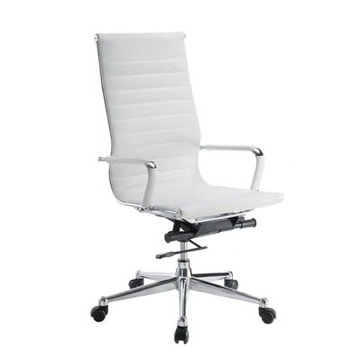 Pantera Leather Desk Chair Upholstery: White