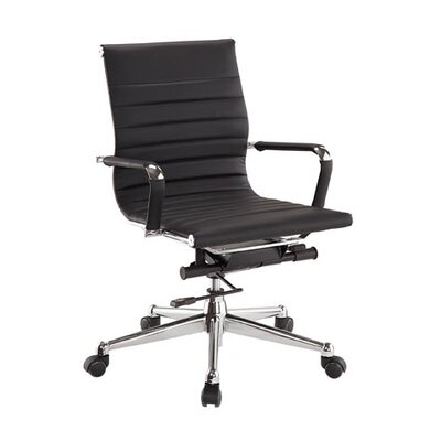 Pantera Genuine Leather Office Chair Upholstery: Black