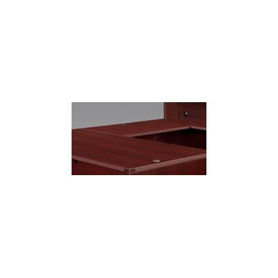 "Fairplex 29"" H Desk Bridge Finish: Mahogany, Size: 29"" H x 42"" W"
