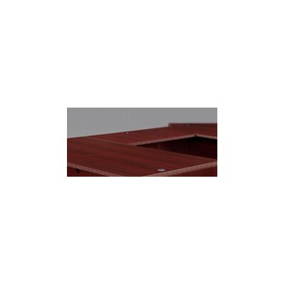 "Fairplex 29"" H Desk Bridge Finish: Mahogany, Size: 29"" H x 48"" W"