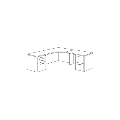 Fairplex Right Junior L-Shape Executive Desk Orientation: Right