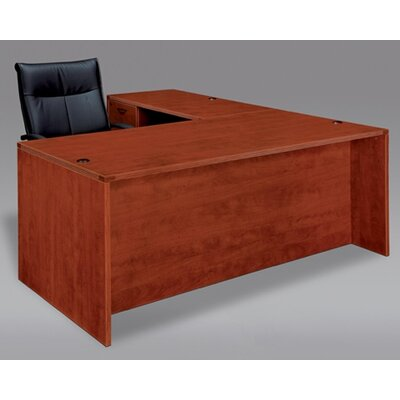"Fairplex 29"" H Left Desk Return Finish: Cognac Cherry, Size: 29"" x 42"""