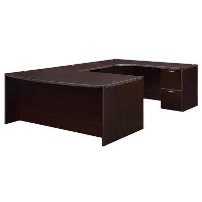 Fairplex Corner Credenza U-Shape Executive Desk Orientation: Right