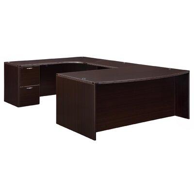 Fairplex Corner Credenza U-Shape Executive Desk Orientation: Left