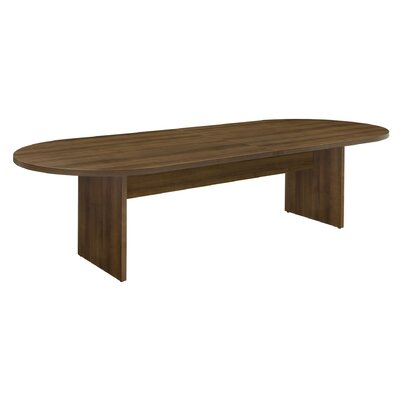 "Fairplex Oval Conference Table Size: 48"" W x 120"" D"