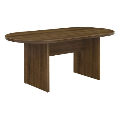 "Fairplex Oval Conference Table Size: 35"" W x 71"" D"