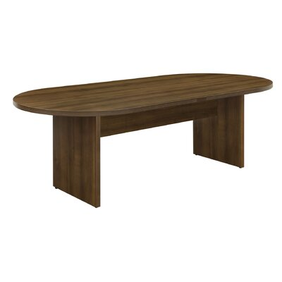 "Fairplex Oval Conference Table Size: 42"" W x 95"" D"