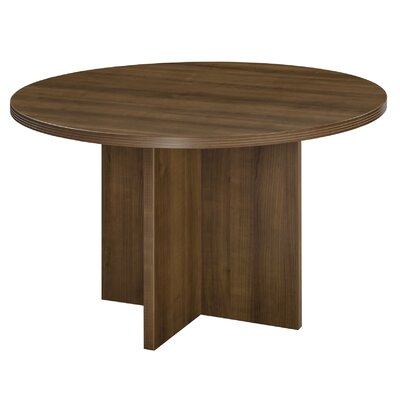 "Fairplex Circular Conference Table Size: 47"" W x 47"" D"