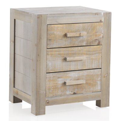 Geese 3 Drawers Bedside Table