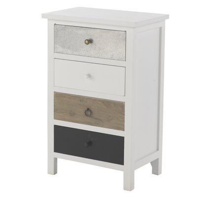 Geese 4 Drawer Bedside Table