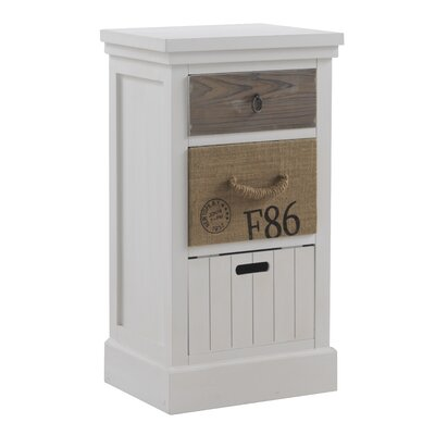 Geese 3 Drawer Bedside Table