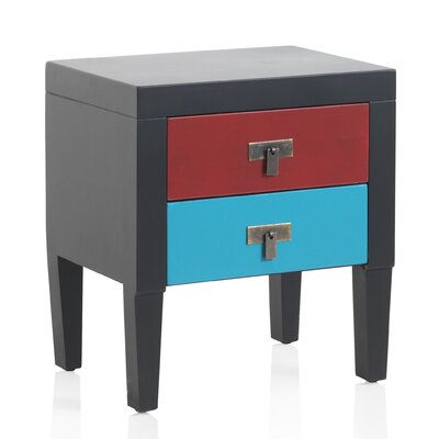 Geese 2 Drawers Bedside Table