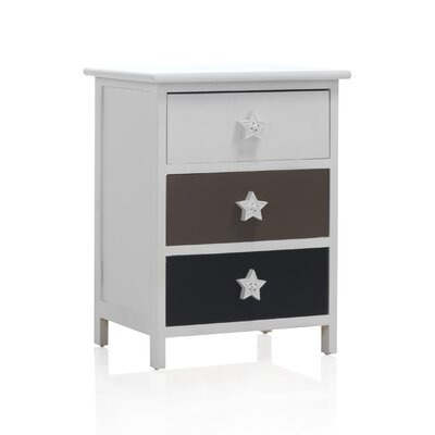Geese 3 Drawer Nightstand