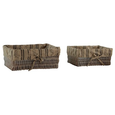 Geese 2 Piece Basket Set with Lining