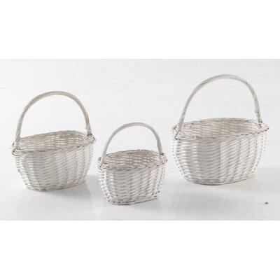 Geese 3 Piece Wicker Basket Set