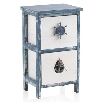 Geese 2 Drawer Nightstand