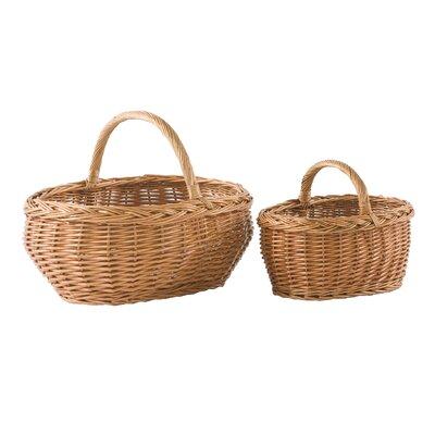 Geese 2 Piece Wicker Basket Set