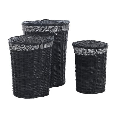 Geese 3 Piece Round Basket Set with Lining