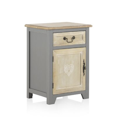 Geese 1 Drawer And 1 Door Bedside Table