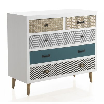 Geese Wooden 5 Drawer Chest of Drawers