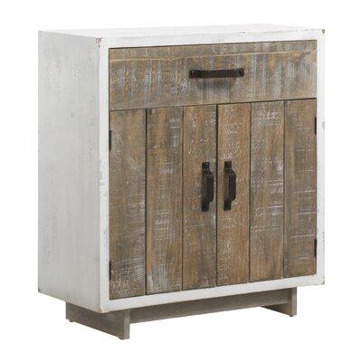 Geese Wooden Rustic Front 1 Drawer 2 Door Cabinet