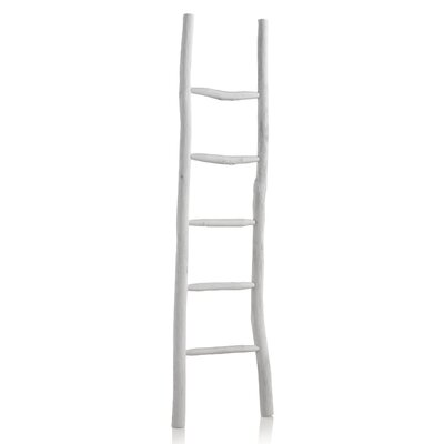 Geese Wooden Rustic Ladder
