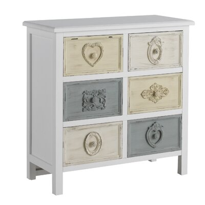 Geese Wooden Tiroirs 6 Drawer Chest